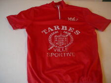 maillot de vélo vintage Tarbes Tour des Hautes Pyrenées rouge