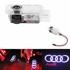 2 LED Logo Shadow Light Projector Car Door Courtesy Laser For Audi A4 A6 A8 Q7