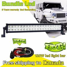20inch 120W Led Work Light Bar Off Road Truck Ford Jeep SUV + Wiring harness Kit