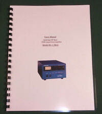 Tokyo Hy-Power HL-1.2KFX Instruction Manual - Card Stock Covers & 28lb Paper!