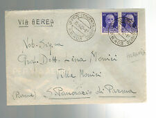 1942 Albania Cover From Concentration Camp PM 403 to Parma Italian stamps letter