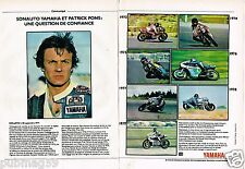 Publicité advertising 1979 (2 pages) Moto yamaha  Patrick Pons