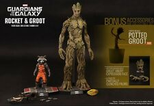 HOT TOYS Guardians of the Galaxy Rocket & Groot 1/6 Figure Special VIP Edition