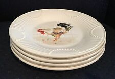 4 Lenox Butler's Pantry Buffet Golden Rooster Accent Luncheon Plates NWT Perfect