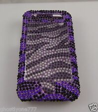 for Iphone 3G or 3GS phone case bling  purple black crystal swirl