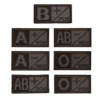 3D Brown Gray Military Tactical Blood Type A B AB O POS NEG Hook Patch HOT SALE