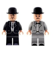 Custom Minifigures Comedy Duo Laurel and Hardy Printed on LEGO Parts
