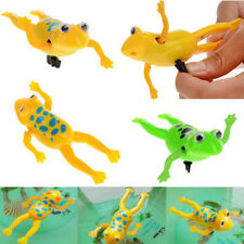3pcs Plastic Bathroom Tub Bathing Toys Clockwork Wind UP Bath Frog For Baby Kids