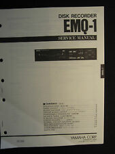 Yamaha Disk Recorder EMQ-1 Service Shop Manual Schematics Wiring Parts List EMQ1