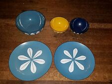 Vintage lot 5 pcs Cathrineholm LOTUS enamel Norway Plates Bowls MCM Retro mod