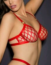bnwt agent provocateur bubbles red lacy bra size 2 uk 8-10