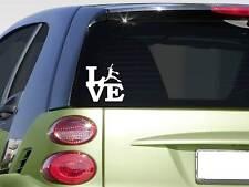 """Softball love 6"""" sticker *F268* decal car decal fastpitch catcher bat helmet"""