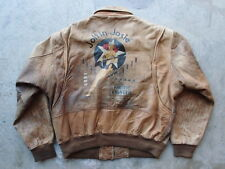 Vintage 80s Overland Outfitters Joltin Josie A-2 Leather Flight Jacket Size 44