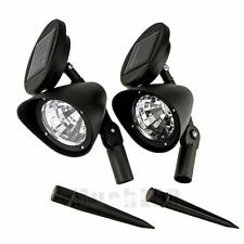 2x LED Solar Spot Light Garden Lamp Outdoor Lawn Landscape Spotlight US SHIP