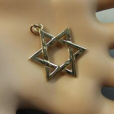 9 ct GOLD  new star of david pendant