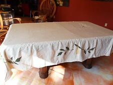 Tablecloth from Pottery Barn (never used) and 12 matching napkins, pear design