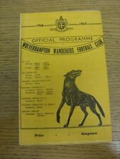 01/02/1967 Wolverhampton Wanderers v Oldham Athletic [FA Cup Replay] (Creased, F