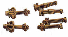 Pack of 12 Small Pairs 40mm Fairy Door HINGES in 1mm MDF 4 pairs X 3 styles #01