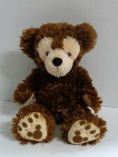 Walt Disney World Pre Duffy Bear Hidden Mickey Dark Chocolate Brown Plush 17""