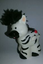 Fisher Price Little People Zebra Zoo Animal Black White Replacement Touch Feel