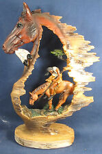 "Horse and Rider ""Trails End"" American South Western  Decor Figurine"