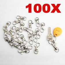 100pcs Charm Lobster Clasps Swivel Trigger Clips Snap Hooks Bag Key Ring mini