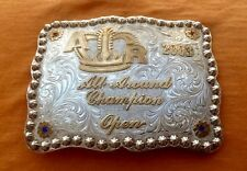 VTG 2003 STERLING SILVER A.R. RODEO ALL AROUND CHAMPION OPEN TROPHY BELT BUCKLE
