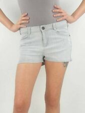 GESTUZ Denim JEANS Shorts LIGHT GREY Slight DISTRESS 4-Pocket DULLE 30 Free Ship