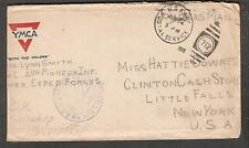 WWI AEF censor cover Pvt Lynn Smith 2nd Pioneer Inf APO 712 to Little Falls NY