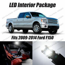 11pcs LED White Lights Interior License Package Kit For Ford F150 2009-2014