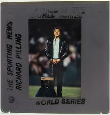 SMOKEY ROBINSON National Anthem 1986 WORLD SERIES NEW YORK METS RED SOX SLIDE 1
