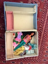 Vintage Barbie Case Jasmin Doll  Mod Style Doll Clothes Junk Lot