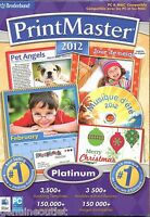 Printmaster 2012 Platinum Greeting Cards Banners for (PC/MAC DVD) SEALED NEW