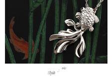 1 PC Fashion Pendant Women's Sterling Silver Gold Fish Shape Size 2.5 cm WW-A