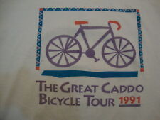 "Vintage ""The Great Caddo Bicycle Tour"" 1991 Exercise White T Shirt Men's Size L"