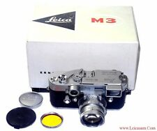 Leica M3 Single Stroke Camera Set w 35/2,8mm & 50/2mm D.R. w.cases & Box, Hood !