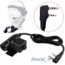 Z-Tactical U94 Headset Cable Adapter & PTT for Kenwood Puxing Wouxun Baofeng