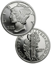 Mercury Design 1 Troy Ounce .999 Fine Silver Round SKU31430