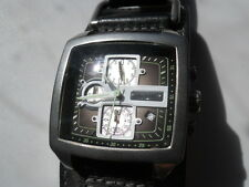 Fossil men's chronograph blk leather band Analog & w-resist dress watch.Jr-1196