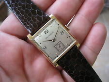 Vintage Universal SOLID 18K ROSE GOLD Mens Mechanical Watch! small seconds pink