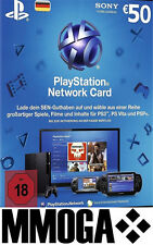 PSN Playstation Network Card 50€ - 50 Euro Eur Prepaid Key Sony PS3 PS4 PSP - DE