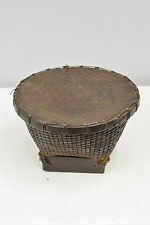 Basket Rice Basket Bamboo Rattan Lombok Indonesia Woven Rattan Lidded Basket