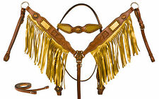 WESTERN SHOW HORSE TACK SET BLING HEADSTALL BRIDLE REINS BREAST COLLAR BARREL