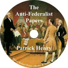 The Anti-Federalist Papers, Constitution Audiobook by Patrick Henry on 1 MP3 CD