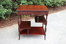 Fancy Victorian Solid Mahogany Aesthetic Display Table with Shelves Ca.1880