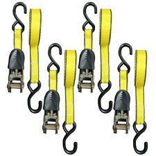 "Set of 4 Everest 1"" x 15 FT Ratchet Tie Down Straps ATV Motorcycle Truck 1500lbs"