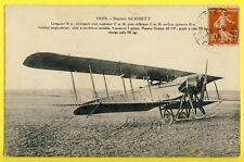 cpa AVIATION Cachet PARIS en 1914  AVION BIPLAN Paul SCHMITT Airplane