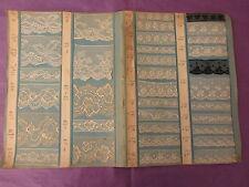 Superbes planches catalogue de 70 échantillons de fine dentelle 11842