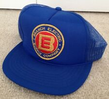 Branch Electric Supply Company Blue Trucker Hat Adjustable