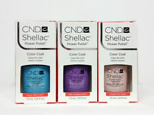 SHELLAC UV GEL- CND -Pick ANY Color/ Base/ Xpress5 Top 7.3ml/.25oz - SET OF 3